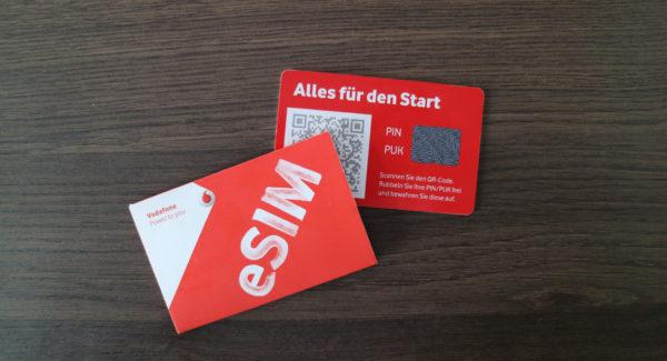 Vodafone startet mit der eSIM