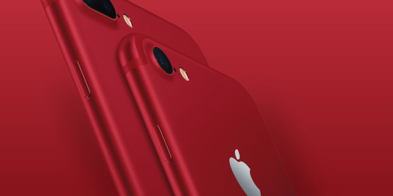Apple (RED): Rote iPhones ab 24. März 2017
